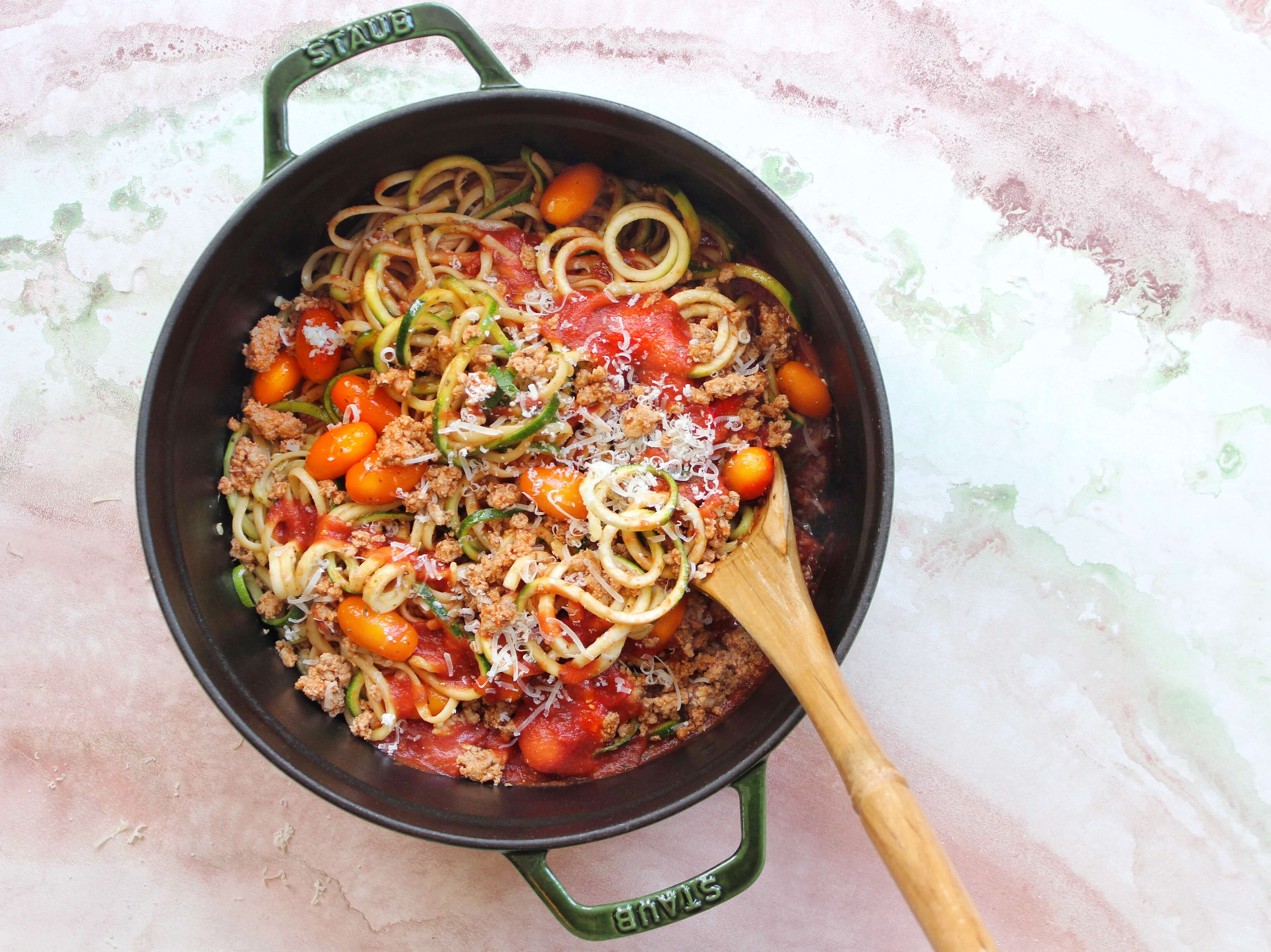 Zoodles and Ground Turkey-1