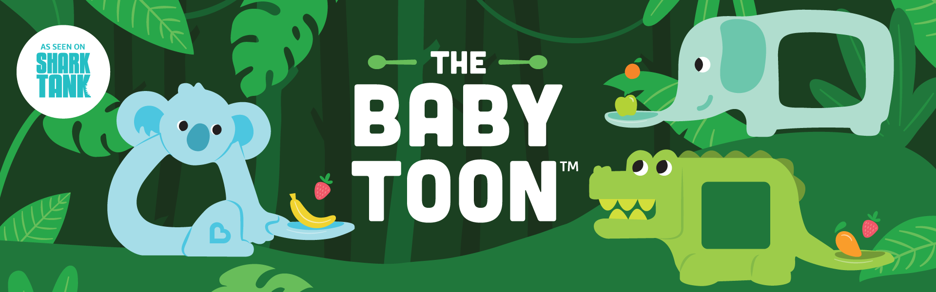 The Baby Toon™ Silicone Teether Spoon