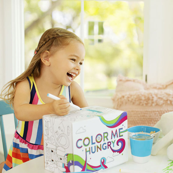Blue Munchkin Color Me Hungry Toddler Dining Set