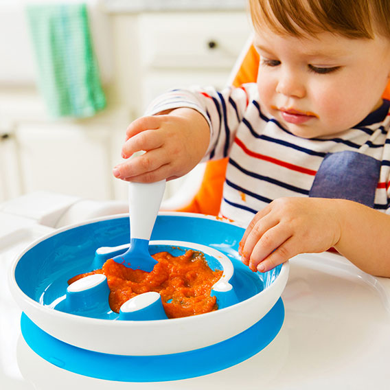 Smile N Scoop Suction Plate Amp Training Spoon Blue