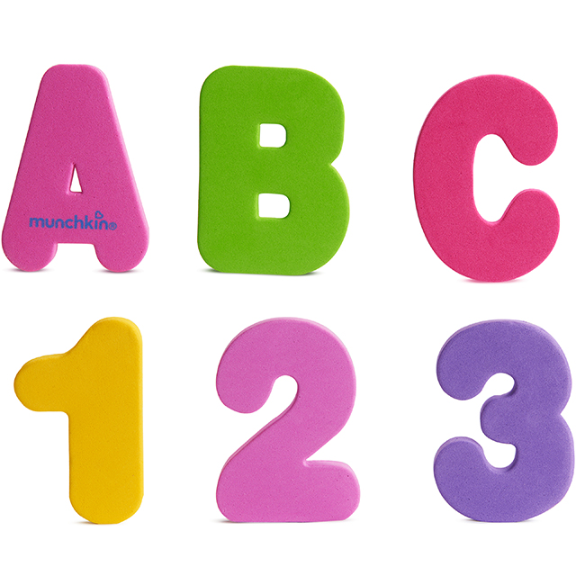 Learn Bath Letters Amp Numbers Pastel 36 Count Munchkin Com