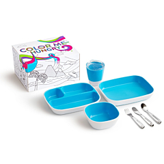 Color Me Hungry Splash™ Dining Set with Personalized Polish™ Utensil Set