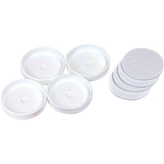 Safety Gate Wall Cups & Sticky Pads, White, 4pk