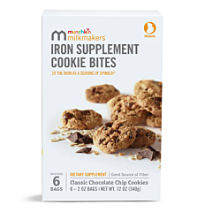 Milkmakers® Prenatal Iron Supplement Cookie Bites, Chocolate Chip, 6ct