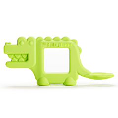 The Baby Toon™ Silicone Teething Spoon, Lime Alligator