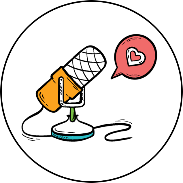 Image of stylized microphone