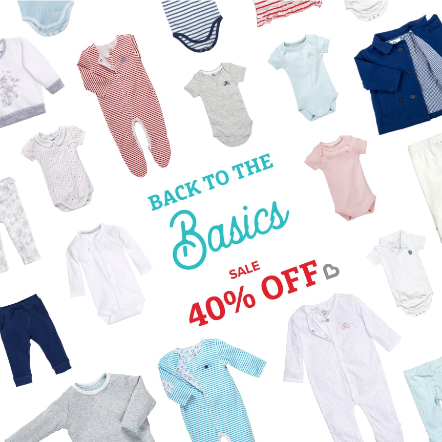 Back to the Basics: 40% Off Clothing