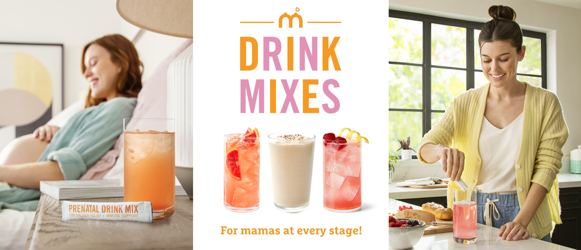 Drink mixes for mamas at every stage