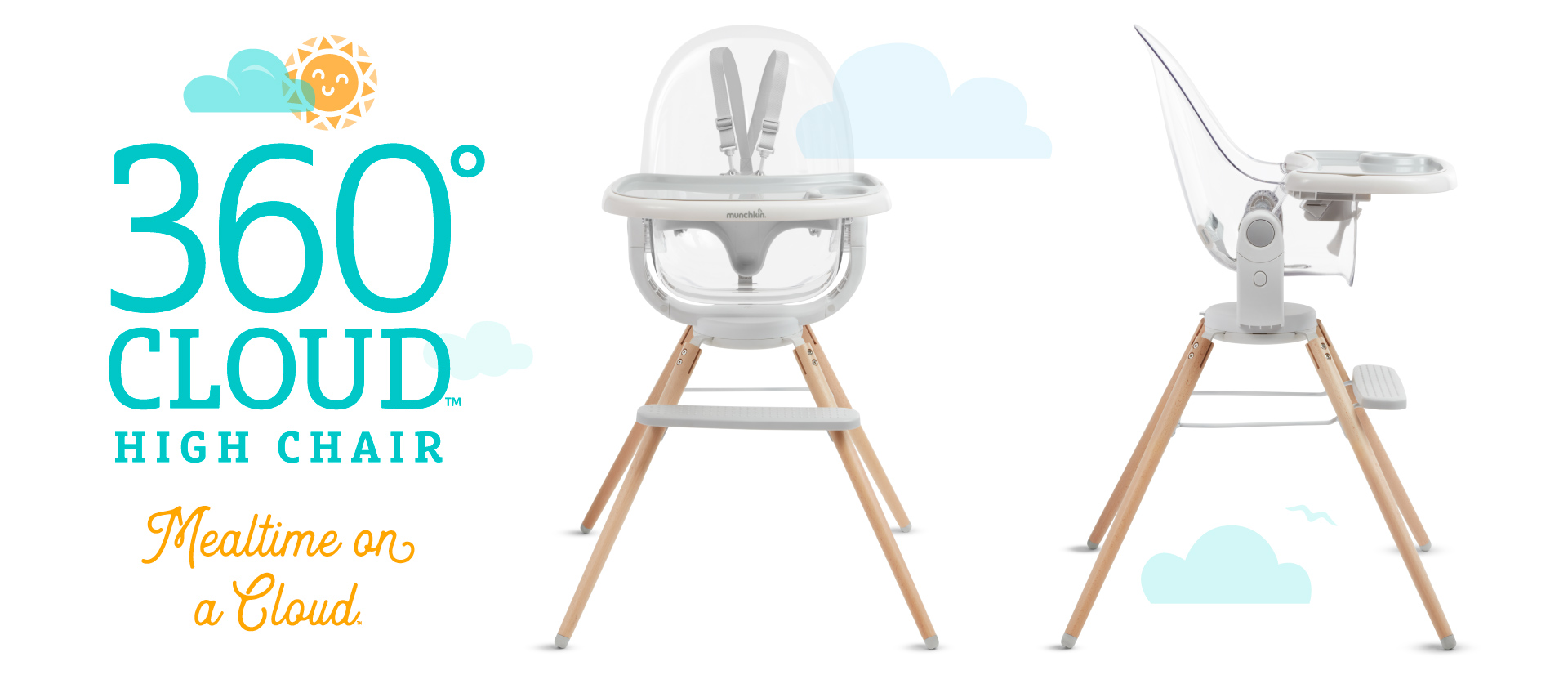 360° Cloud™ High Chair, Mealtime on a Cloud™